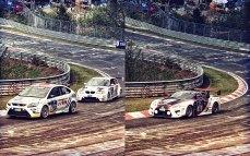 1_24H_Nürburgring_2010_Brünnchen_BMW-1er_Ford-Focus_Lexus-LFA-GT